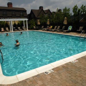 An outdoor pool and year-round fitness center encourage a healthy lifestyle