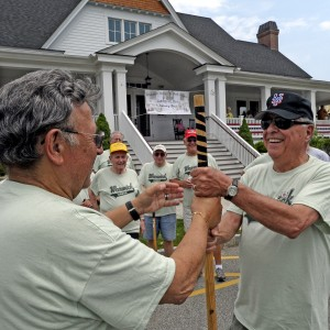 Join a stickball or bocce league, or take a fitness class