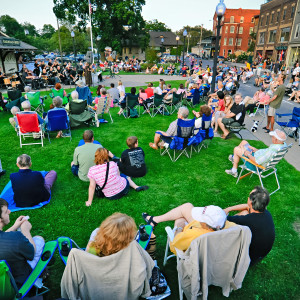 Summer concert on Warwick's Railroad Green