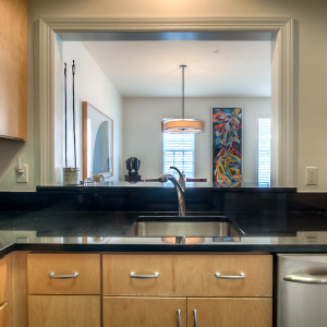 Kitchen passthrough to the living and dining rooms